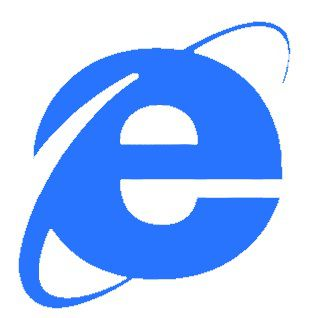 A Netscape - IE logo