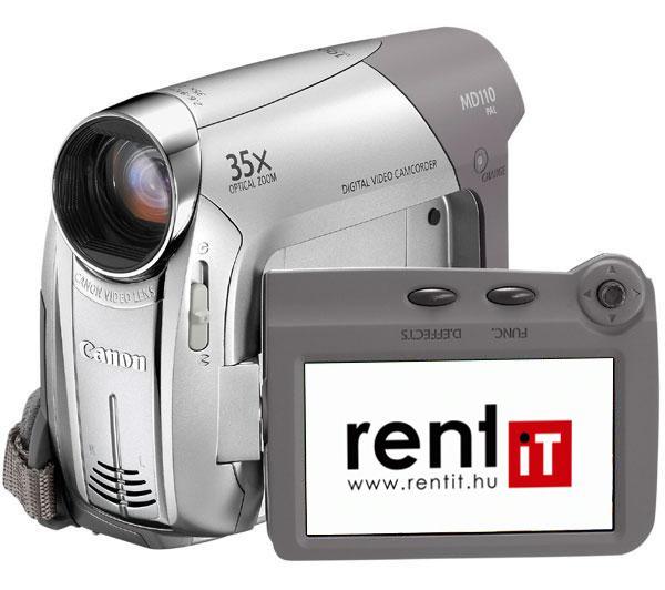 Canon MD111 miniDV videokamera bérlés, bérbeadás