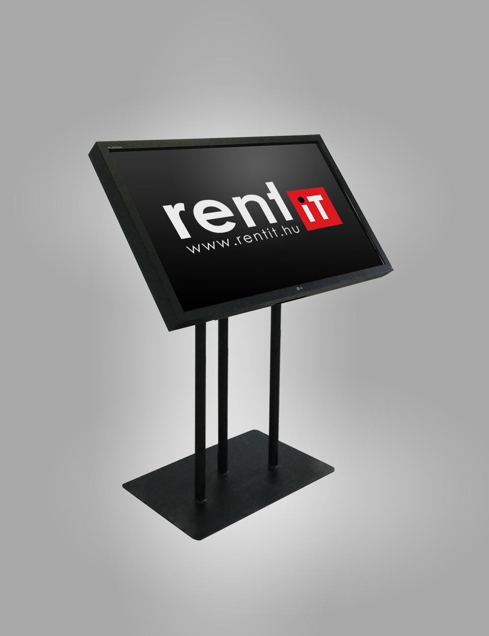 Döntött padlóállvány nagy méretű érintőképernyőhöz - TV állvány bérlés, bérbeadás