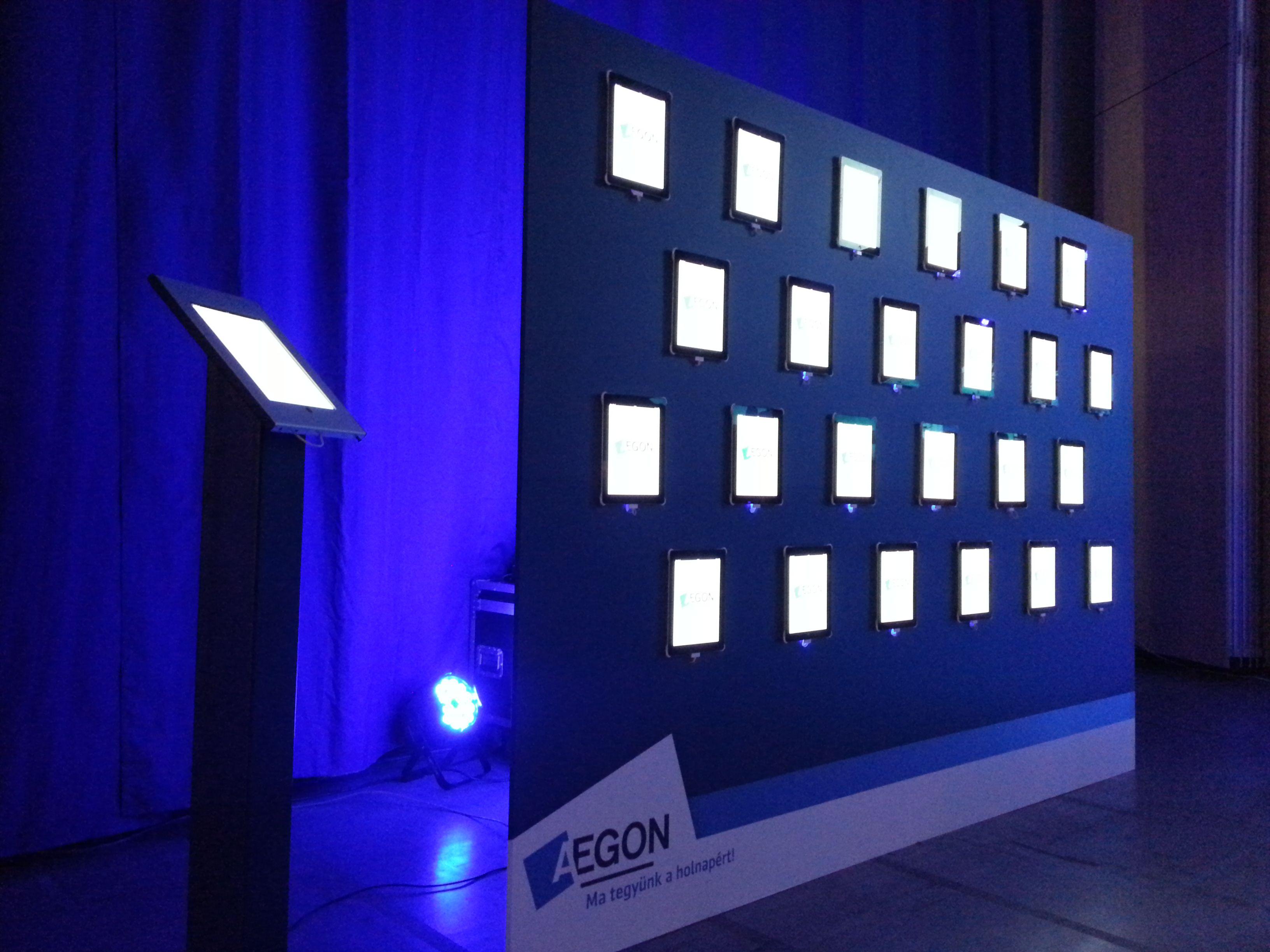 iPad wall