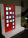interactive iPad wall aligned to the company aspect