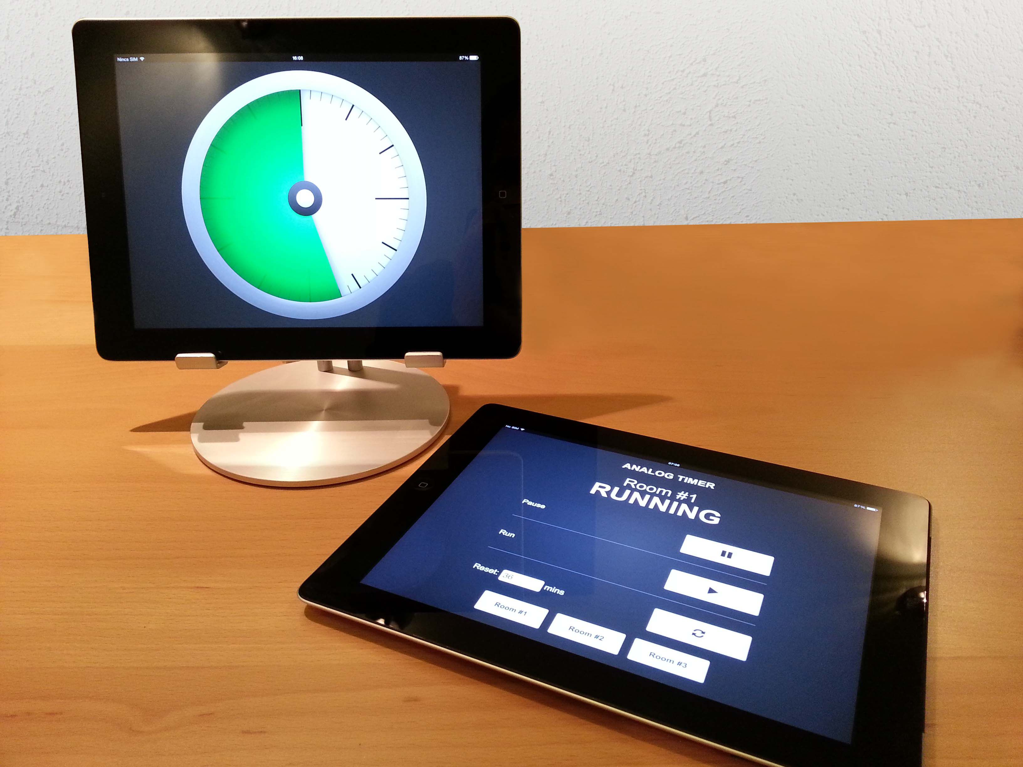 iPad timer for events for presenters with special needs